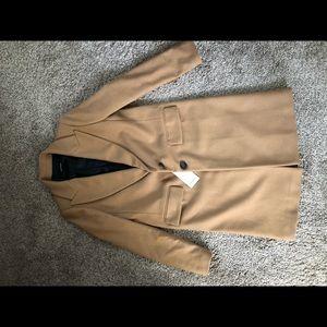NWT Zara masculine camel coat bloggers favorite